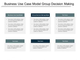 Business Use Case Model Group Decision Making Model Cpb
