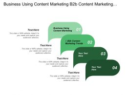 Business Using Content Marketing B2b Content Marketing Trends