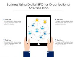 Business Using Digital BPO For Organizational Activities Icon