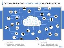 Business Using IOT As A Global Technology With Regional Offices