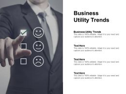 Business Utility Trends Ppt Powerpoint Presentation Layouts Structure Cpb