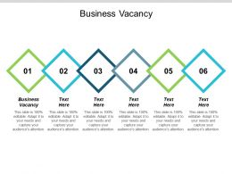 Business Vacancy Ppt Powerpoint Presentation Pictures Demonstration Cpb