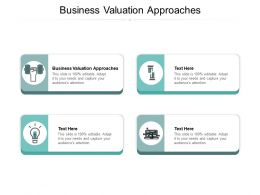 Business Valuation Approaches Ppt Powerpoint Presentation Infographic Template Good Cpb