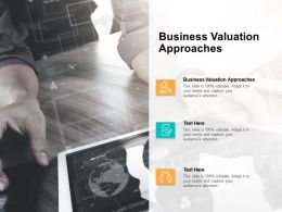 Business Valuation Approaches Ppt Powerpoint Presentation Layouts Themes Cpb
