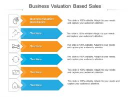Business Valuation Based Sales Ppt Powerpoint Presentation Gallery Design Inspiration Cpb