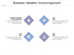 Business Valuation Income Approach Ppt Powerpoint Presentation Ideas Graphics Cpb
