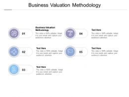 Business Valuation Methodology Ppt Powerpoint Presentation Infographics Example Cpb