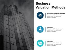 Business Valuation Methods Ppt Powerpoint Presentation Gallery Graphics Pictures Cpb