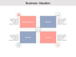 Business Valuation Ppt Powerpoint Presentation Styles Deck Cpb