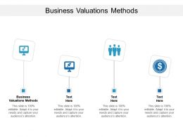 Business Valuations Methods Ppt Powerpoint Pictures Graphics Template Cpb
