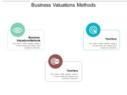 Business Valuations Methods Ppt Powerpoint Presentation Gallery Graphics Tutorials Cpb