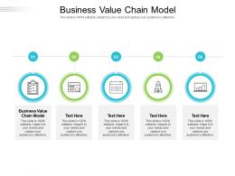 Business Value Chain Model Ppt Powerpoint Presentation Model Background Cpb