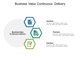 Business Value Continuous Delivery Ppt Powerpoint Presentation File Show Cpb