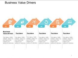 Business Value Drivers Ppt Powerpoint Presentation Styles Background Image Cpb