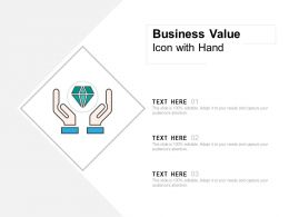 Business Value Icon With Hand