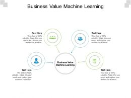 Business Value Machine Learning Ppt Powerpoint Presentation Inspiration Ideas Cpb