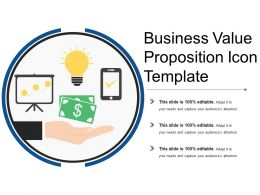 Business Value Proposition Circular Icon With Money