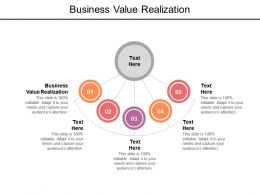 Business Value Realization Ppt Powerpoint Presentation Inspiration Diagrams Cpb