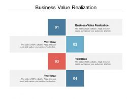 Business Value Realization Ppt Powerpoint Presentation Professional Inspiration Cpb