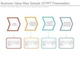 Business Value Rise Sample Of Ppt Presentation