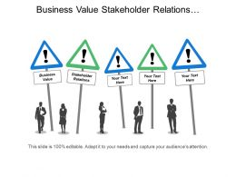 Business Value Stakeholder Relations Organizational Design