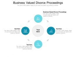 Business Valued Divorce Proceedings Ppt Powerpoint Presentation Show Background Designs Cpb
