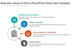Business Values And Ethics Powerpoint Slide Deck Samples
