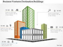 Business Ventures Destination Buildings Flat Powerpoint Design