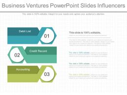 Business Ventures Powerpoint Slides Influencers