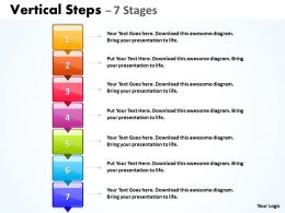 Business Vertical Steps With 7 Stages