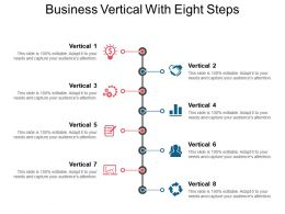 Business Vertical With Eight Steps