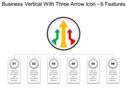 Business Vertical With Three Arrow Icon 6 Features