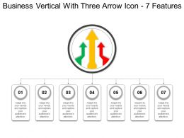 Business Vertical With Three Arrow Icon 7 Features