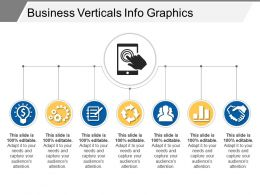 Business Verticals Info Graphics