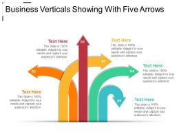 Business Verticals Showing With Five Arrows