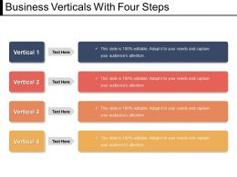 Business Verticals With Four Steps