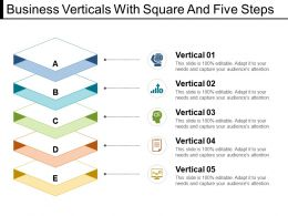 Business Verticals With Square And Five Steps
