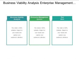 Business Viability Analysis Enterprise Management System Interpersonal Skills Development Cpb
