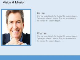 Business Vision And Mission Strategy Diagram Powerpoint Slides