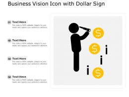 Business Vision Icon With Dollar Sign