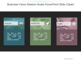 Business Vision Mission Goals Powerpoint Slide Clipart