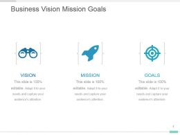 Business Vision Mission Goals Presentation Template Design