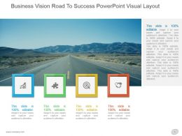 Business Vision Road To Success Powerpoint Visual Layout