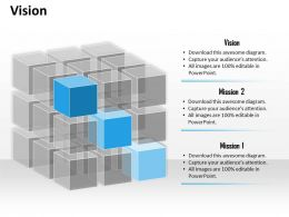 Business Vision Rubic Cube Diagram 0214