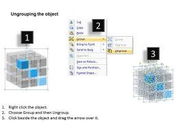 Business Vision Rubic Cube Diagram 0214