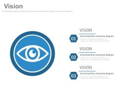Business Vision Strategy Eye Diagram Powerpoint Slides