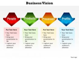 business vision with arrows in line powerpoint diagram templates graphics 712