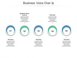 Business Voice Over Ip Ppt Powerpoint Presentation Show Aids Cpb
