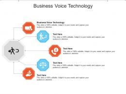 Business Voice Technology Ppt Powerpoint Presentation Portfolio Design Ideas Cpb