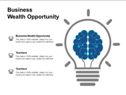 Business Wealth Opportunity Ppt Powerpoint Presentation Outline Inspiration Cpb